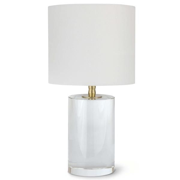Regina Andrew Short Crystal Column Table Lamp With Natural Linen Shade In 2020 Small Table Lamp Table Lamp Lamp