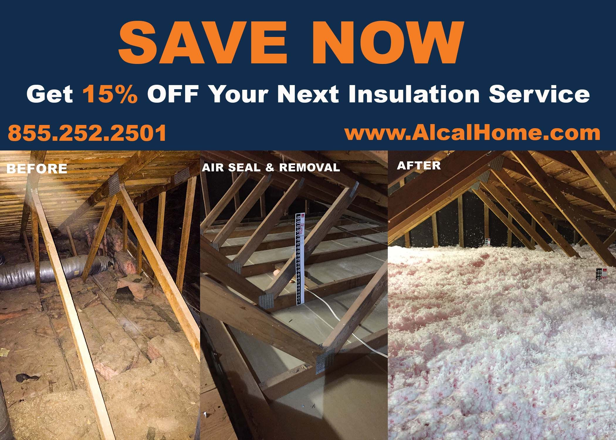 Get 15 OFF Your Next Insulation Service! Attic