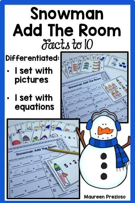 Addition Facts to 10 Add the Room Activity is a fun and engaging way ...