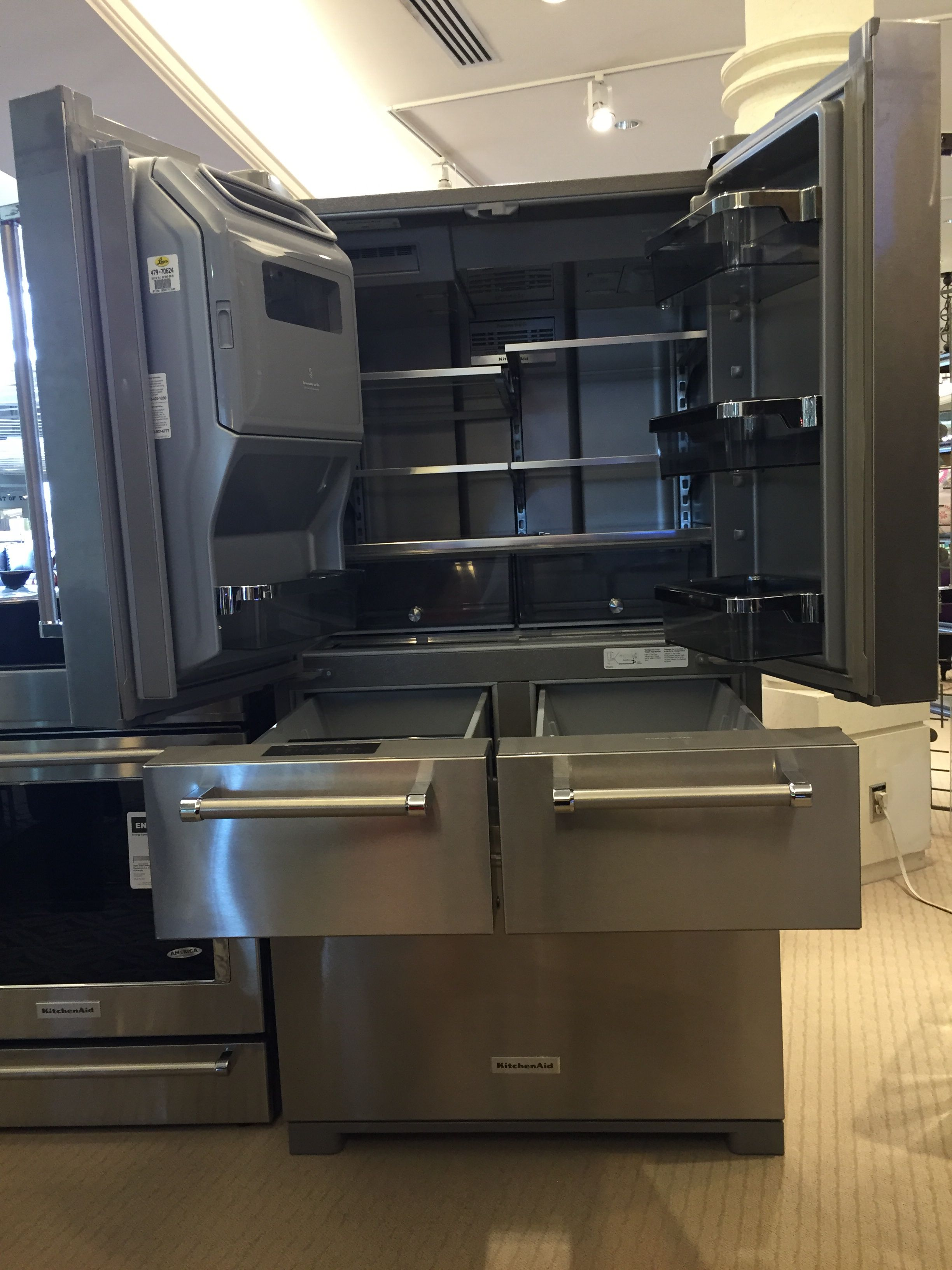 Leon's Calgary - Kitchen Aid 25.8 Fridge SKU 479-70624 - 36.2x36x70.1 - 5 door configuration, water/ice - $4,699