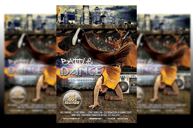 Dance battle flyer template graphic by matthew design