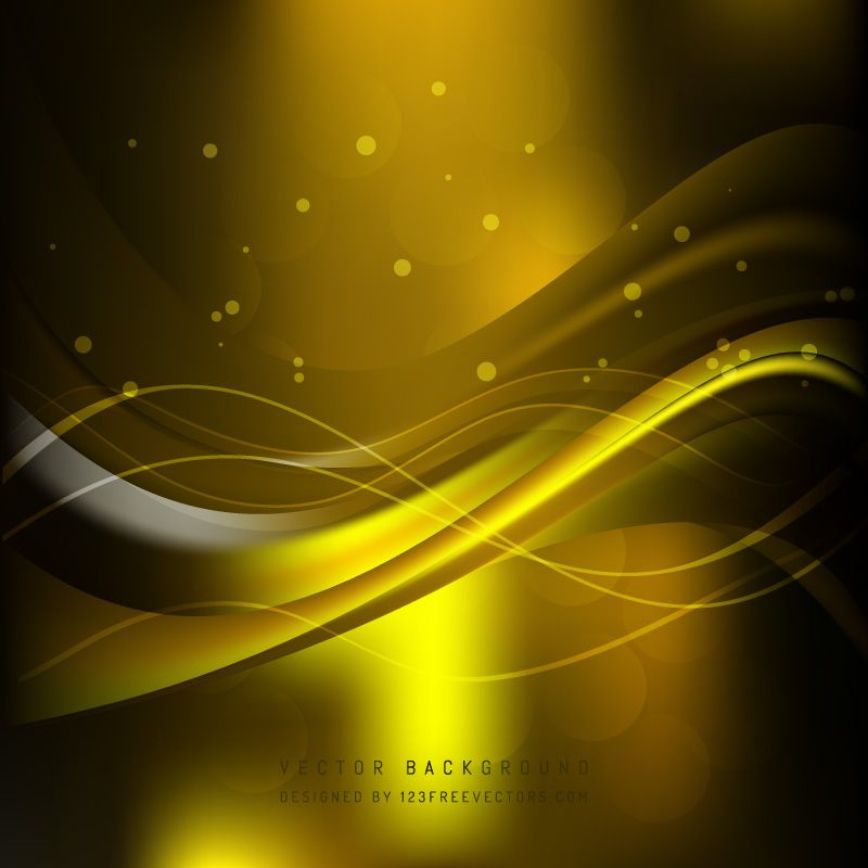 Black Yellow Wave Background Design In 2020 Waves Background