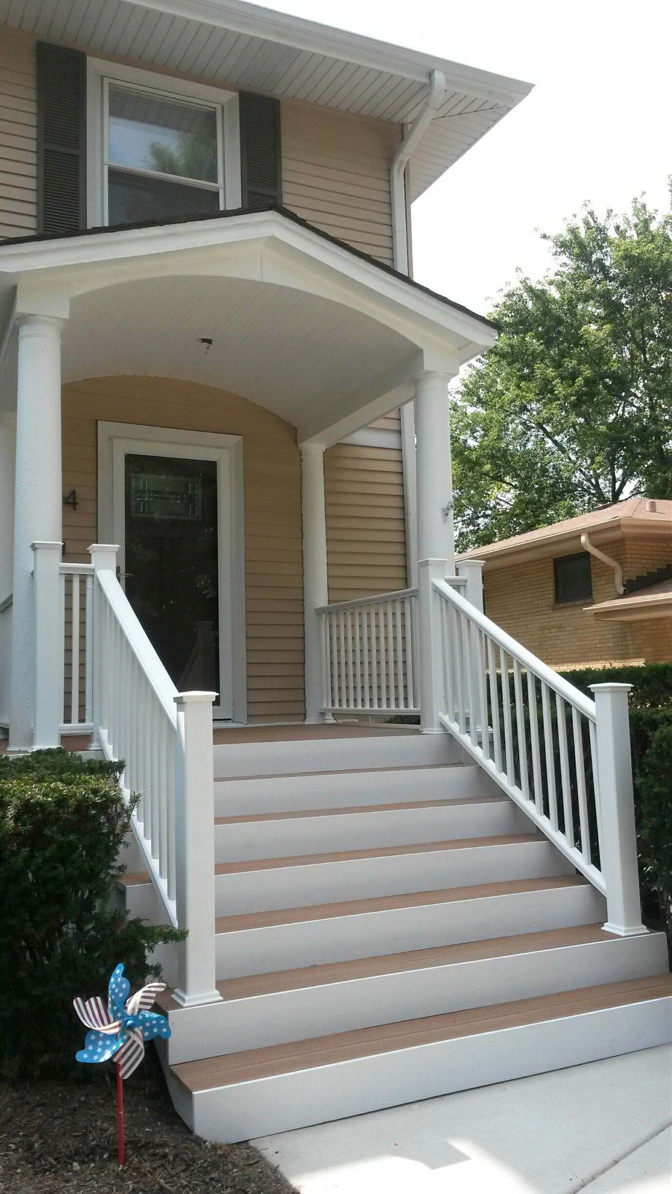 Beautiful New Stairs Using Ultradeck Composite Materials | Outdoor Stair Treads Menards
