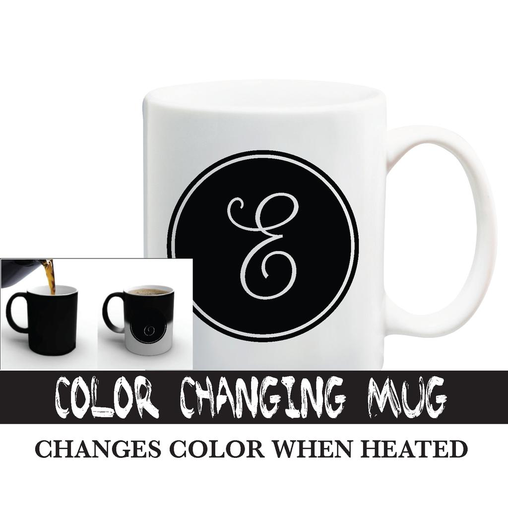 Color Changing Cursive Letter Mug in 2020 Letter mugs