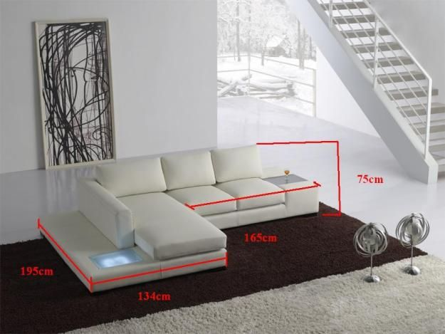 t35 mini modern white leather sectional sofa chaise sleeper for sale the