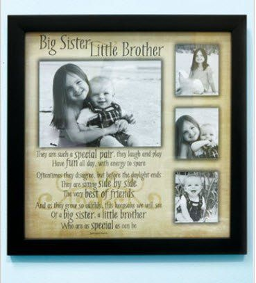 Amazon.com: Sibling - Big Sister Little Brother Collage Frame with ...