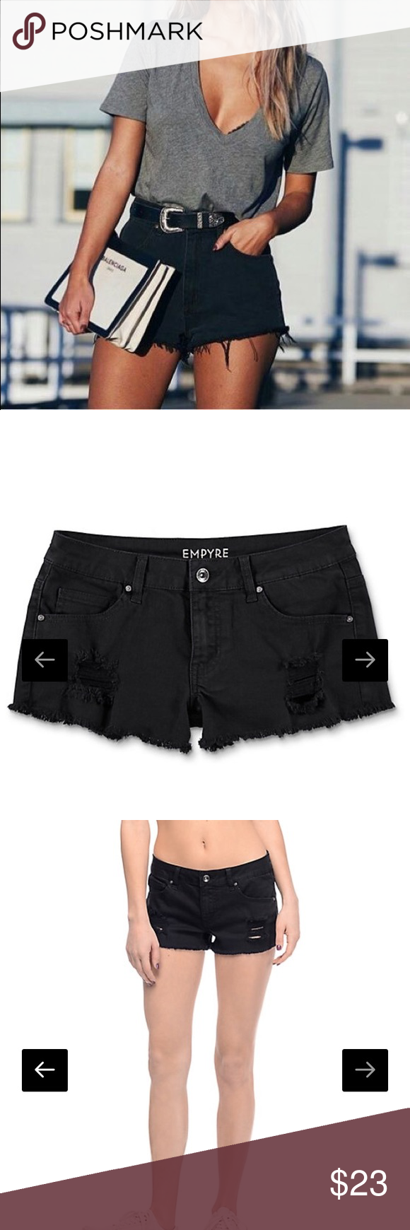 98dfb0bed1 NWT Empyre Distressed Black Shorts Brand new with tags never worn! Size 3  in juniors equivalent to a women's size 2. Zumiez Shorts