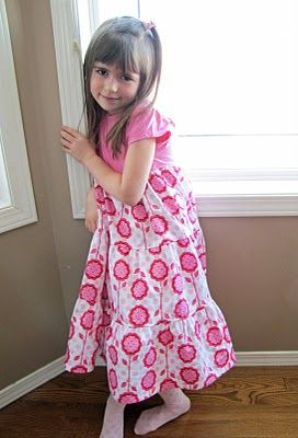 Tiered tshirt dress tutorial - found here http://fromanigloo.blogspot.com/2010/02/twirly-t-shirt-dress.html