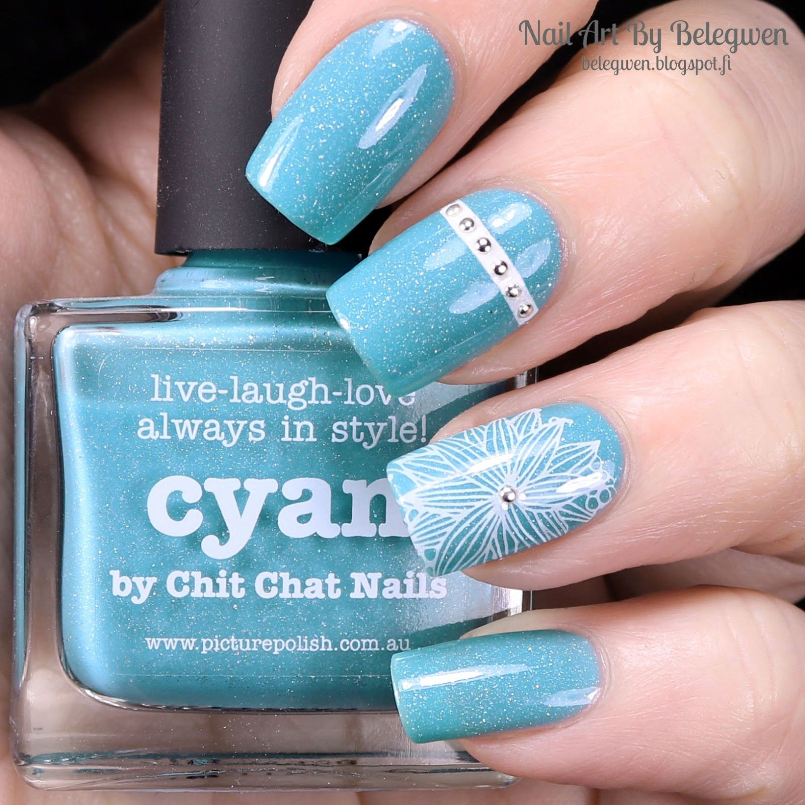 Nail Art by Belegwen: Picture Polish Cyan