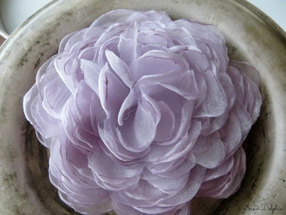 Pale Lavender Peony Wedding Hair Flower  Pale by AnnaDelphiaBridal, $18.00