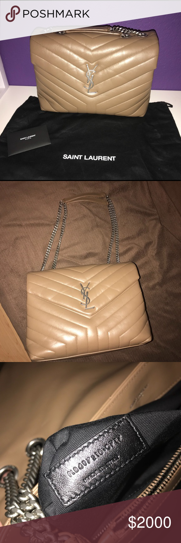 d52c3157228 Used only a few times, still in perfect condition! No flaws or damages.  Comes with dust bag and authenticity cards. Yves Saint Laurent Bags ...