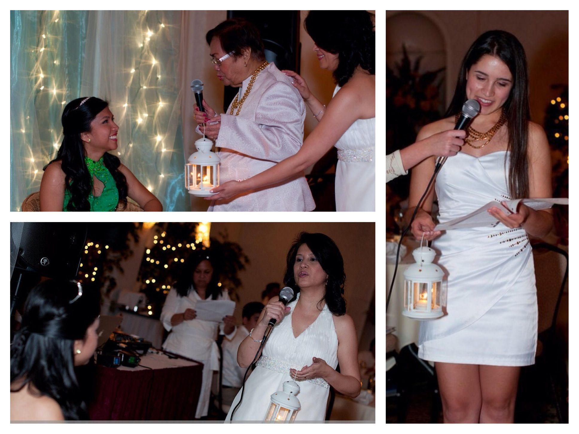 for my debut,18 floating candles were placed in lanterns while my ...