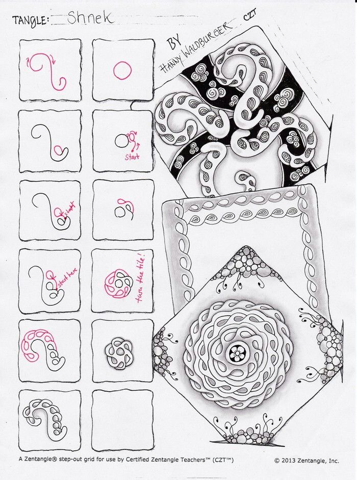 Schnek tangle pattern   Zentangle patterns   Zentangle, Zentangle