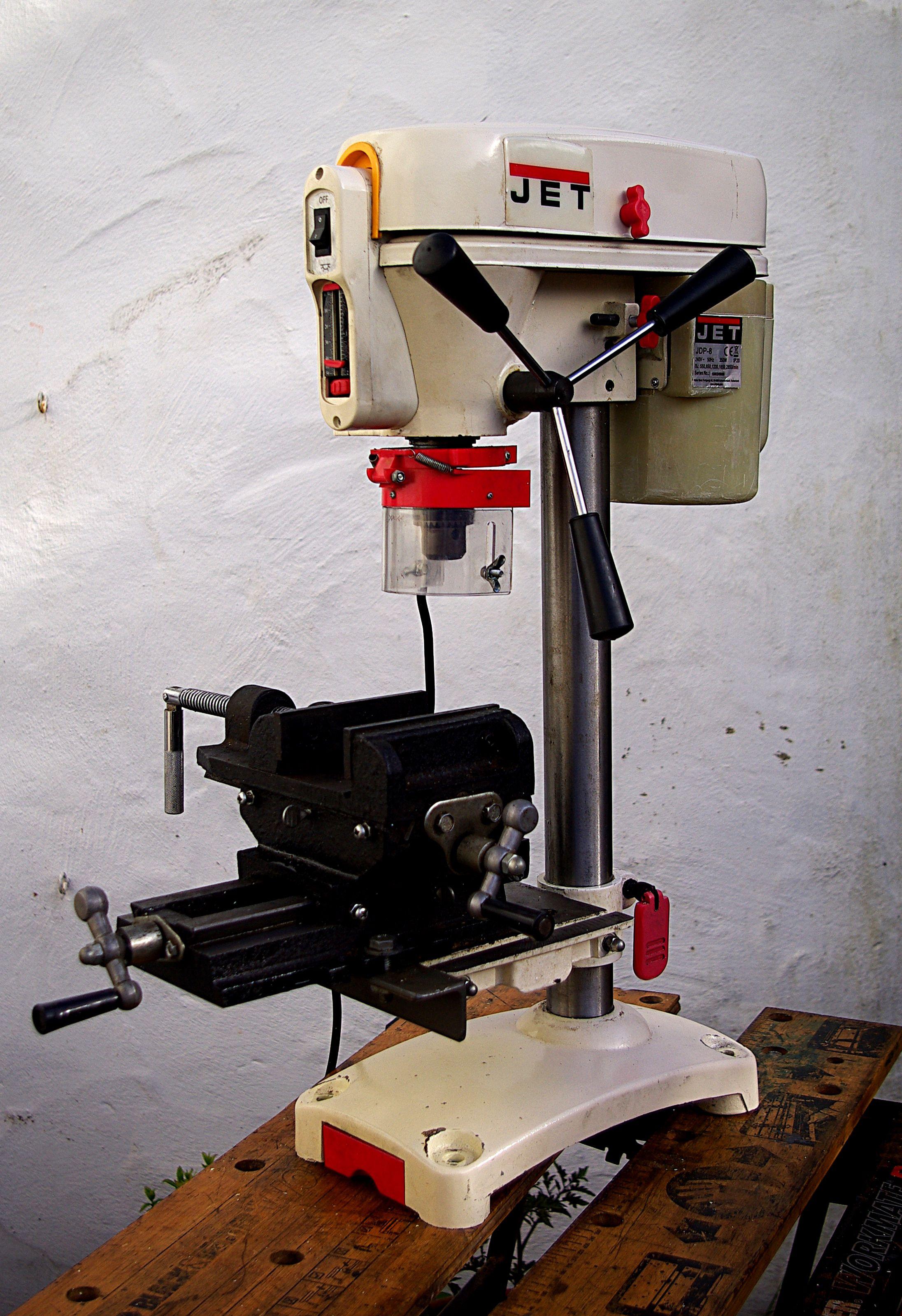 Jet Drill Press Modified With Cross Slide Machine Vice Good Ideas