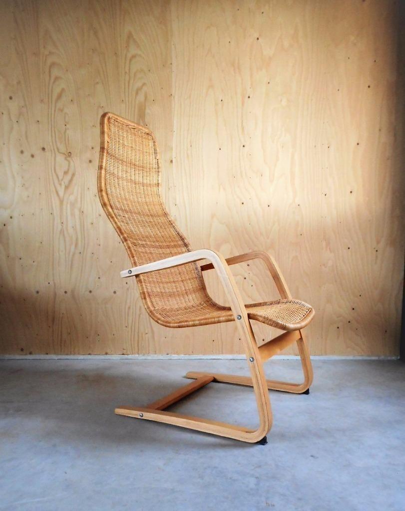 Design Fauteuil Tweedehands.Vintage Jaren 70 Rieten Stoel Fauteuil Retro Design