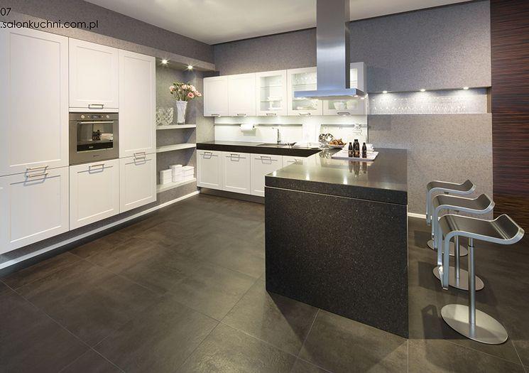 Studio Esse Kuchnia Inox Ciemny Marmur Doskonale Pasujący Do