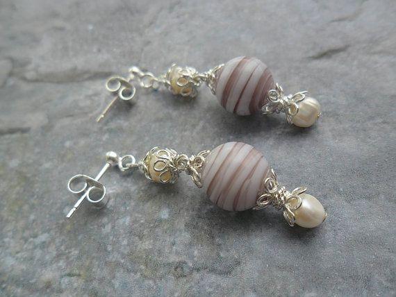 Homemade earrings ladies jewelry / 925 Sterling Silver JHFWBeadsAndFindings at #Etsy #jewelry #jewelery #jewellery
