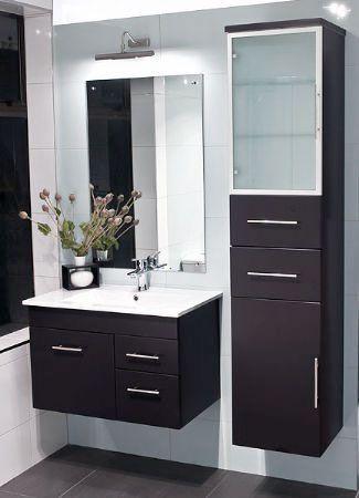 A Floating Vanity Maximizes The Space Easy To Clean Around Too Floating Bathroom Vanities Bathroom Cabinets Designs Bathroom Furniture Storage