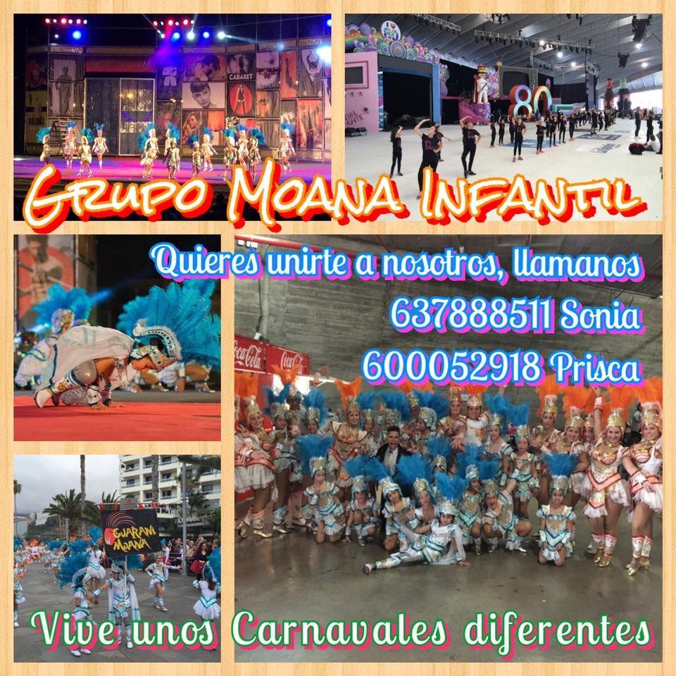 Grupo Mascarada Carnaval: Vive unos carnavales diferentes con el Grupo Moana...