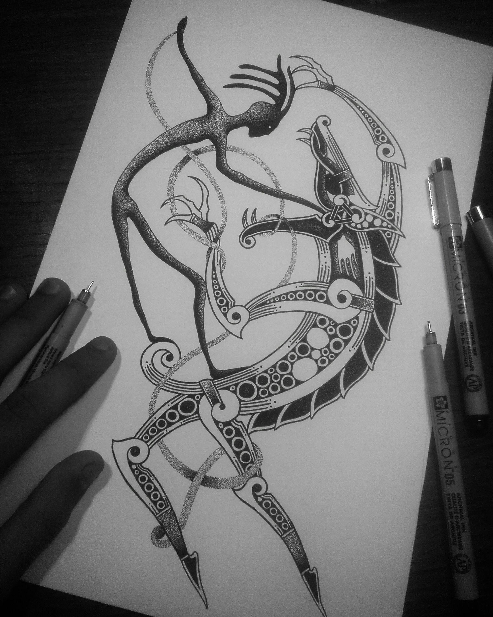 baccc01f66a99 Týr & Fenrir | Scandinavian tattoos | Scandinavian tattoo, Norse ...