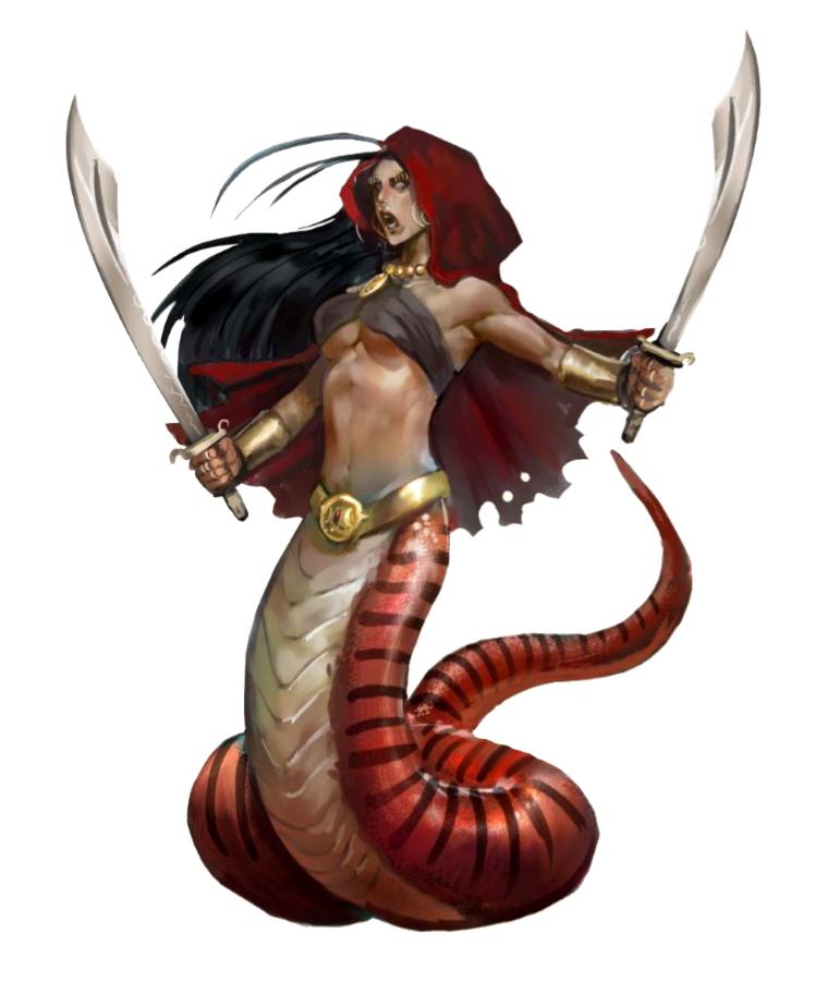 Female Lamia Matriarch Sorcerer - Pathfinder PFRPG DND D&D