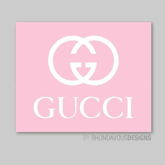 Gucci Logo Fashion Single Print Branding Design Iphone Wallpaper Girly Wallpaper Pink Cute Background gucci wallpaper white