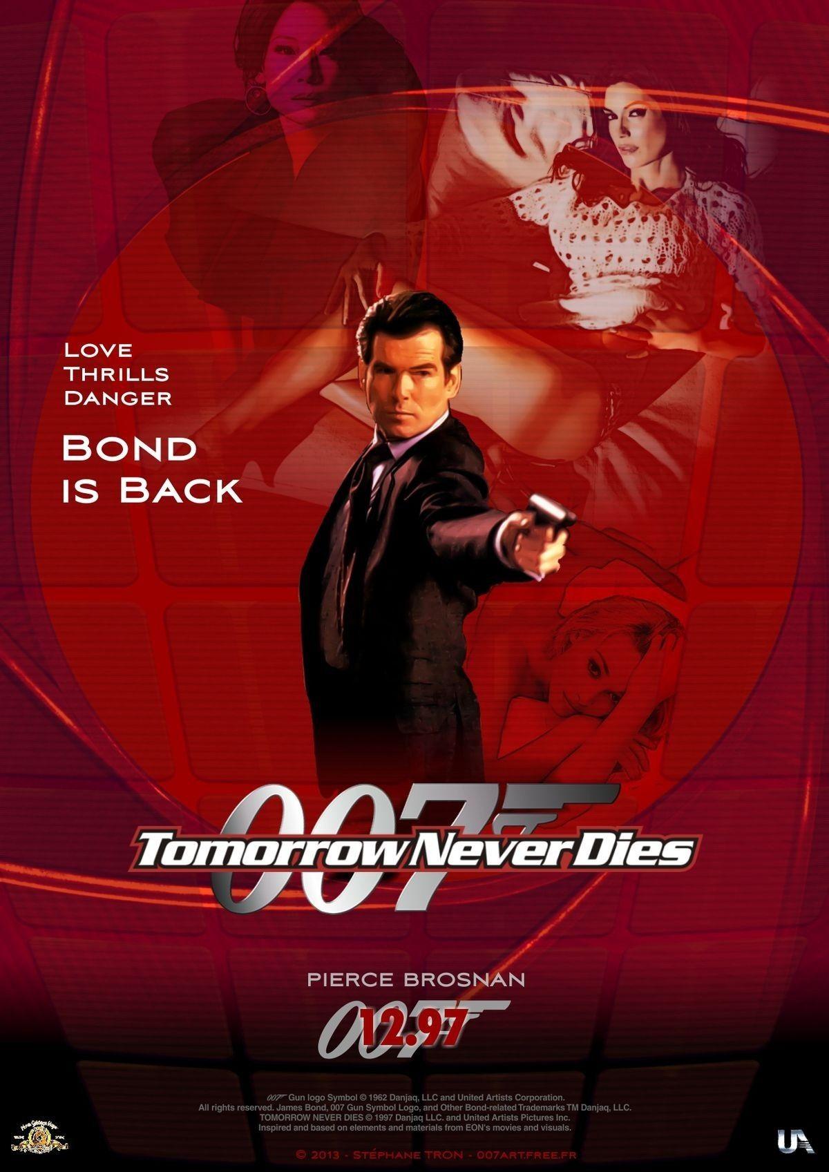Tomorrow Never Dies James Bond Movie Posters James Bond Movies James Bond Actors