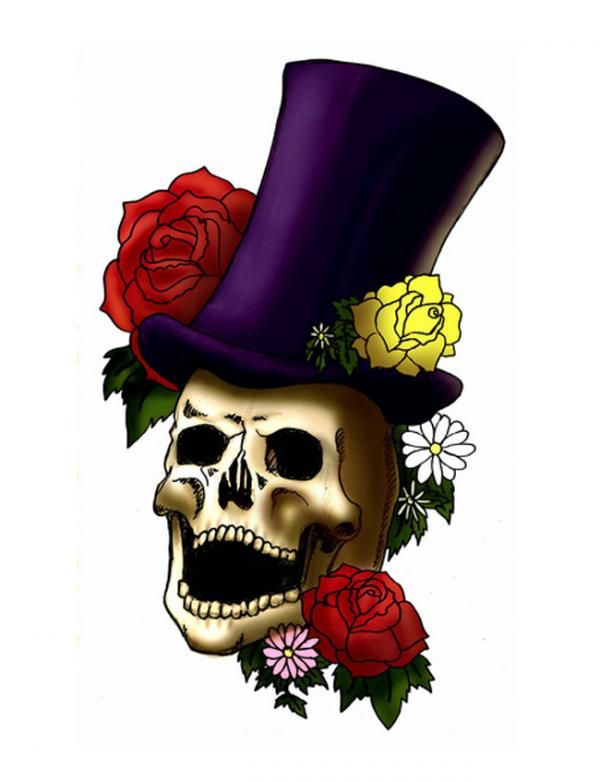 laughing skull with top hat tattoo design code name ink pinterest tattoo. Black Bedroom Furniture Sets. Home Design Ideas