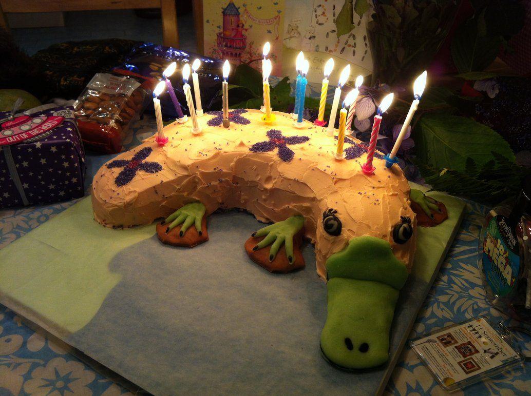 Platypus Cake | Platypuses | Platypus, Birthday candles, Cake
