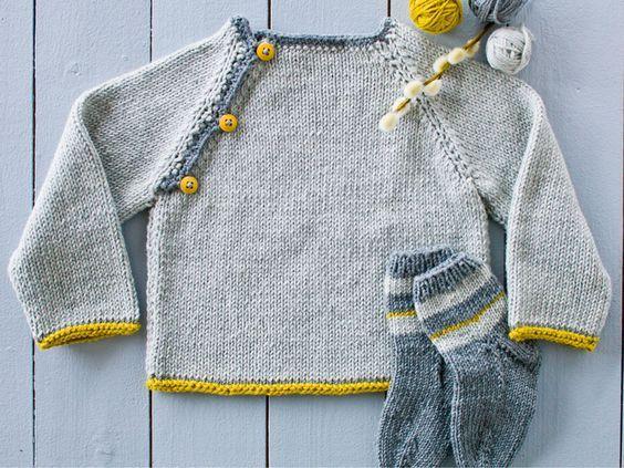 Sticka finaste barntröjan med knappar – så enkel att även en