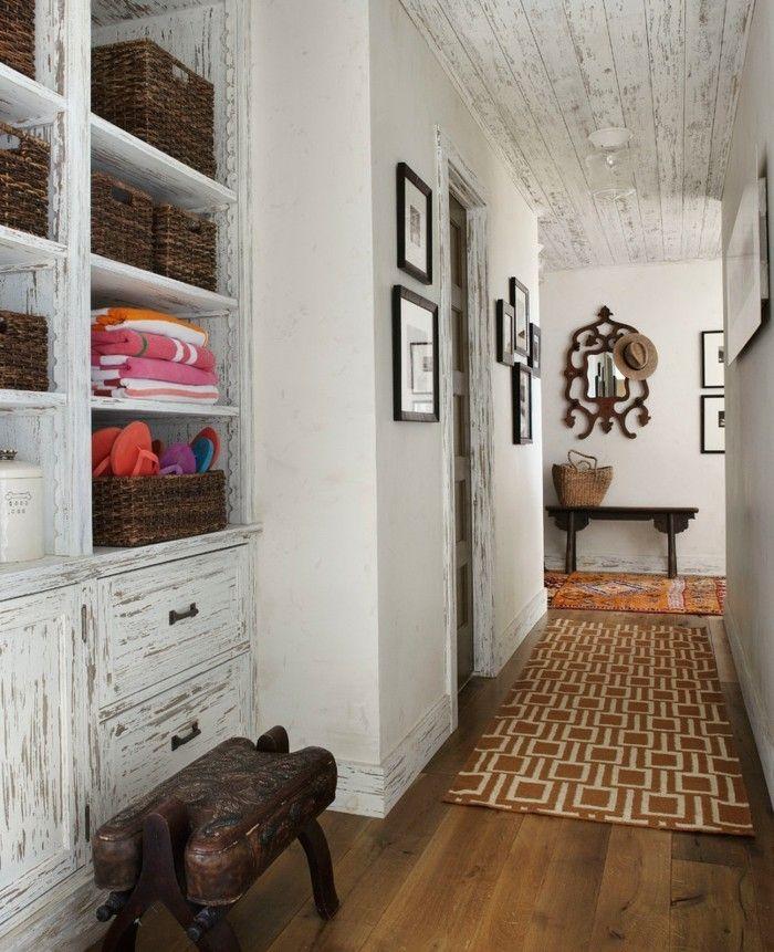 Wohnideen Flur Vintage moderne flurgestaltung im vintage stil mit verkleidung im einklang