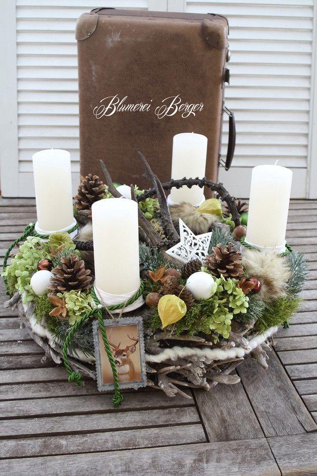 Adventskranz waldweihnacht weihnachten weihnachtsdekoration und kr nze - Moderne weihnachtsdekoration ...
