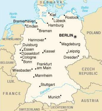 map of germany showing wiesbaden