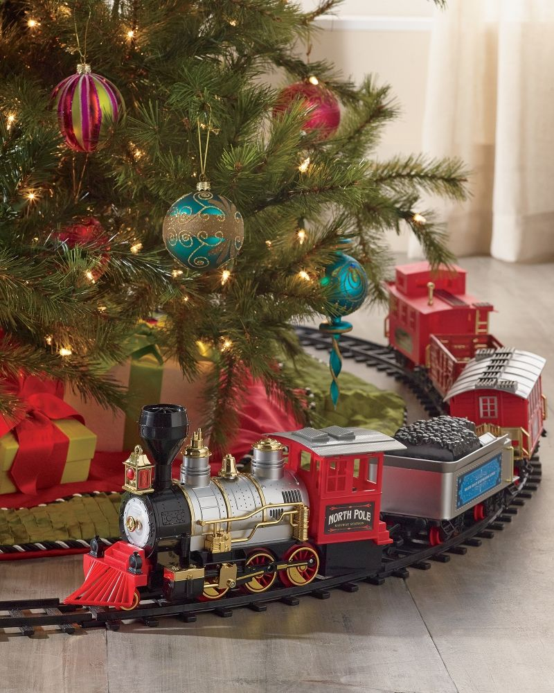 Blue Hat Toy Company North Pole Junction Christmas Train Set Men Stein Mart Christmas Tree Train Christmas Train Set Train Around Christmas Tree
