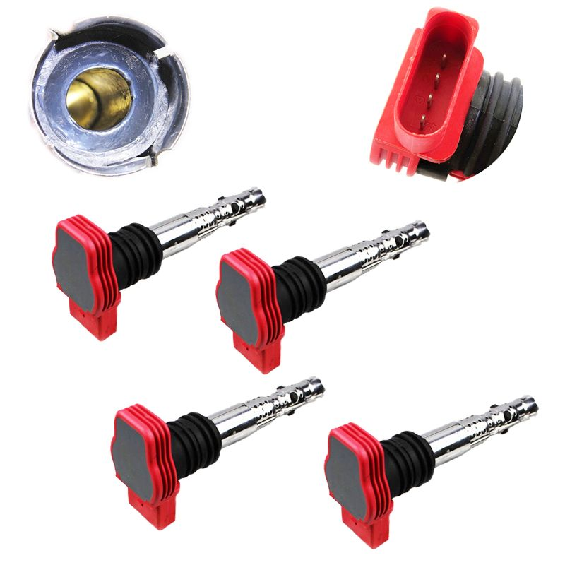 4pcs Car Ignition Coil For Audi A4 A5 A6 A8 Q7 Q5 R8 Vw Touareg 2007 2008 2009 2010 06e905115d 06e905115e 06e905115c 06e905115b Replacement Parts Auto