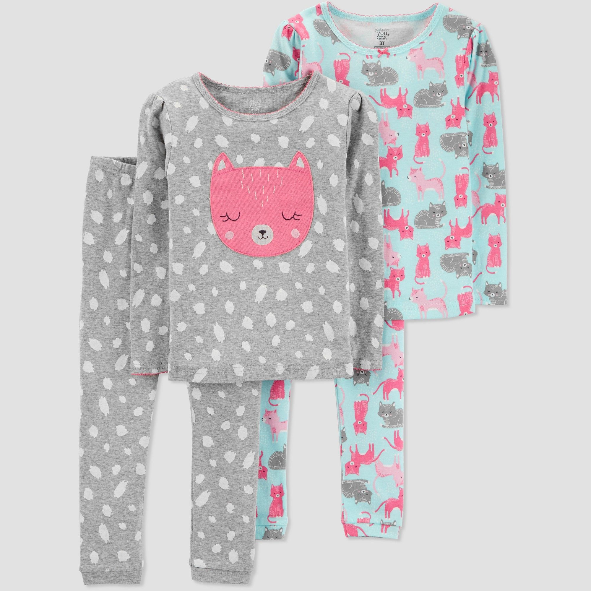 d4b0e52200 Toddler Boys  4pc Bear Pajama Set - Just One You made by carter s Blue 5T