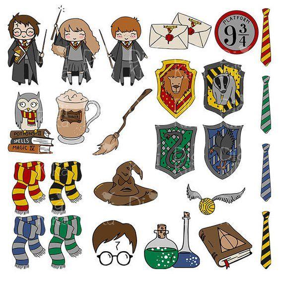 Wizard School Clipart Harry P Inspired Clipart Png Magic Etsy Adesivos Bonitos Harry Potter Adesivos Adesivos Sticker
