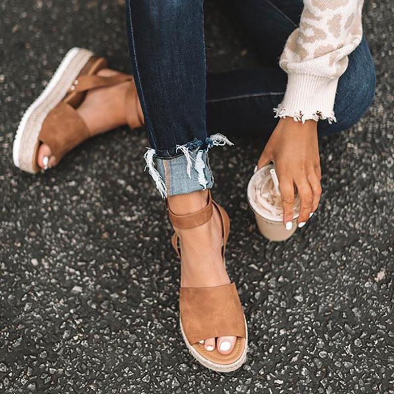 Summer Adjustable Buckle Platform Sandals | Sandals, Oxford