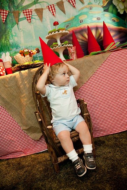 The Little Nook: Fairies and Gnomes and Gnomes Oh My!    Woodland Birthday