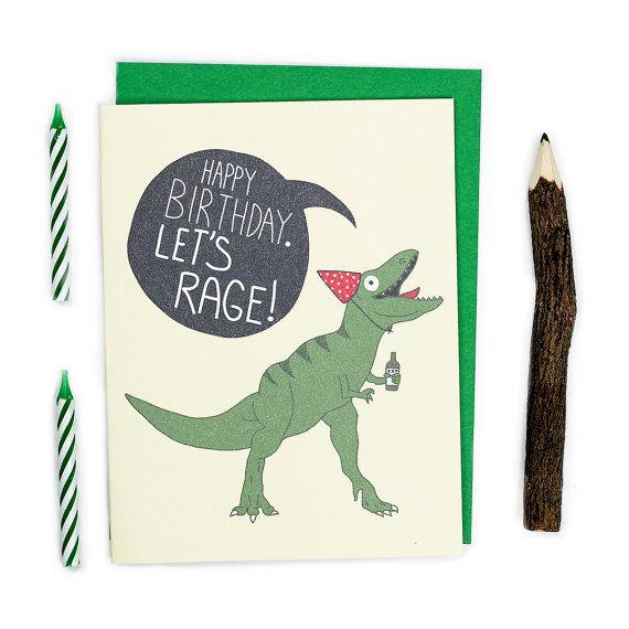Dinosaur Birthday Card Funny Birthday Card T Rex T Rex Etsy Funny Birthday Cards Birthday Humor Birthday Cards
