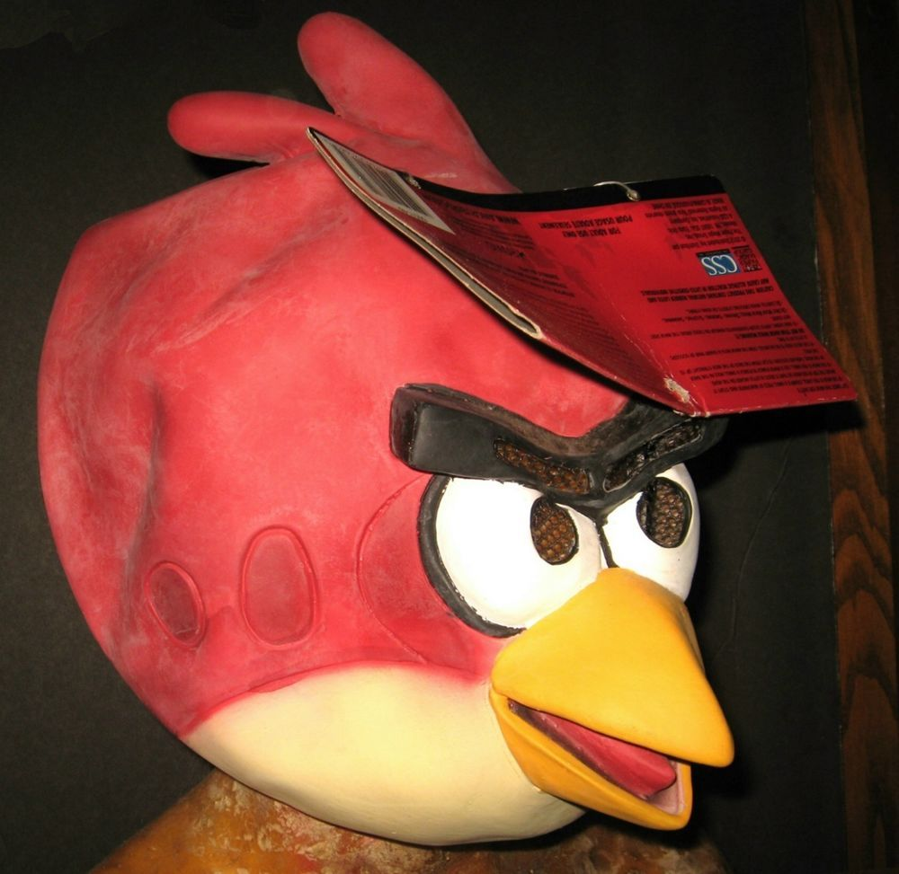 Angry Birds Red Bird Latex Halloween Mask Costume Rubber Prop ...