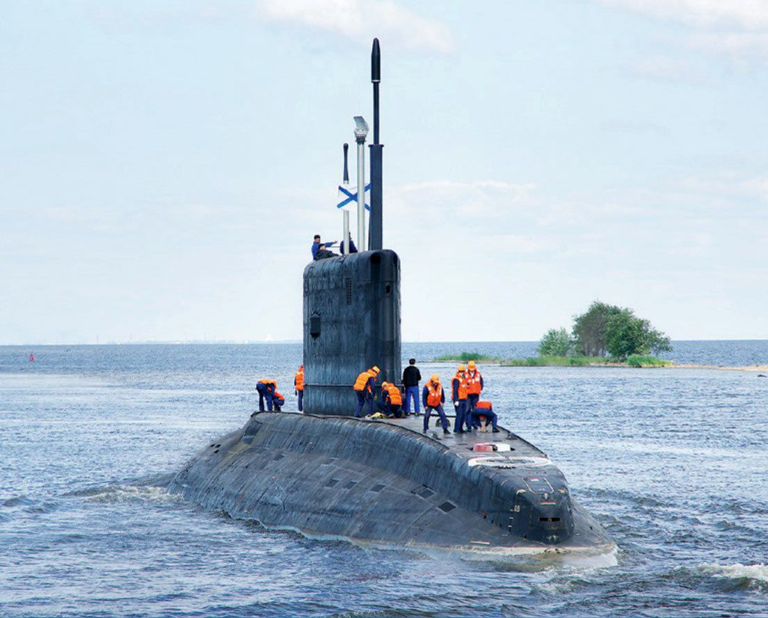"submarine ""novorossiysk"" pr.06363 enters the second stage of"