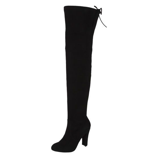 846de6c7e56 Pair this thigh-high boot with a skirt for a stunning effect! From designer