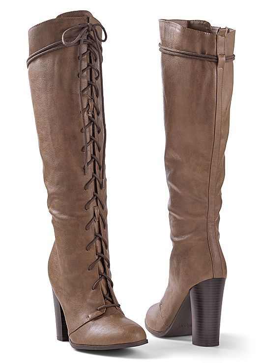 fd6b4925e134 Laced up and ready to go! Venus lace up tall boot.