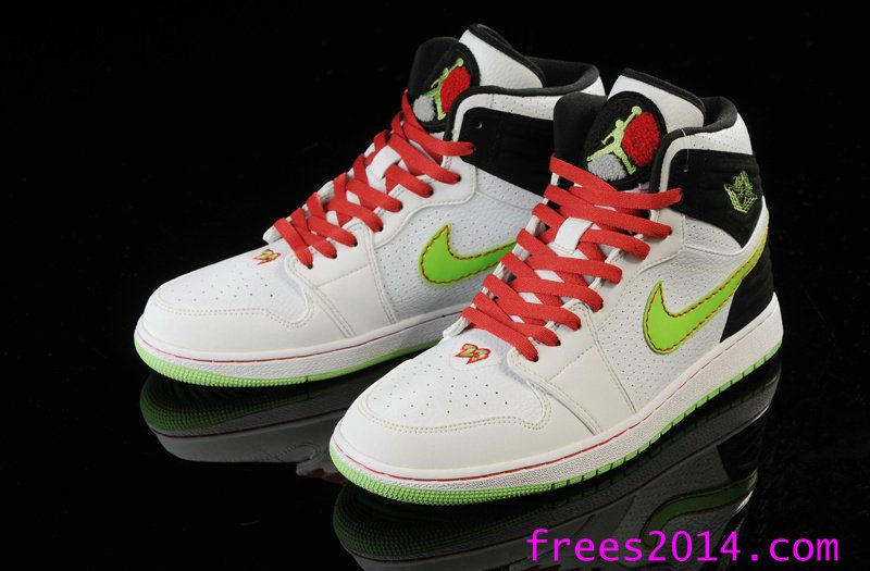 half off 65766 5f2a4 Air Jordan 1 Retro 93 White Electric Green Black Neutral Grey Gym Red  580514 150