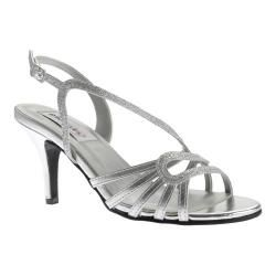 8fd03322a Shop for Women s Dyeables Caitlyn Strappy Slingback Sandal Silver Glitter.  Get free shipping at Overstock.com - Your Online Shoes Outlet Store!