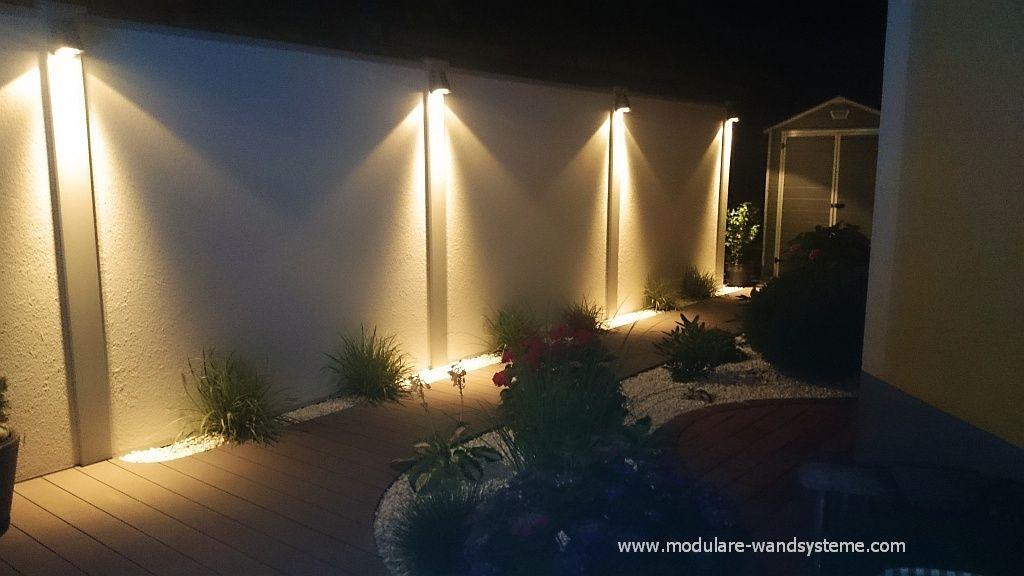 sichtschutzwand mit beleuchtung | backyard dreams! | pinterest, Garten Ideen