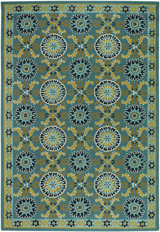 Amazon.com: Couristan 2109/1095 Covington Suncrest Azure 8-Feet by 11-Feet Rug, Blue: Furniture & Decor