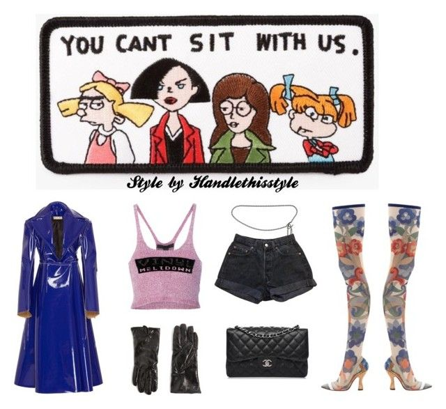 """I don't want to sit with you anyways 🖕🖕🖕🖕 LMAO 😂"" by handlethisstyle ❤ liked on Polyvore featuring Azalea, Fendi, Alexander Wang, Topshop, Levi's and Chanel"
