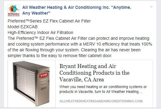 Bryant Heating And Air Conditioning Products In The Vacaville Ca